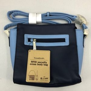 NWT Travel Smith RFID Cross Body Bag Navy/Blue